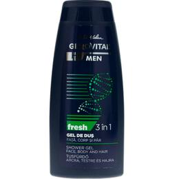 Gel de Dus 3 in 1 Fata, Corp si Par - Gerovital H3 Men Shower Gel Face Body and Hair - Fresh, 400ml