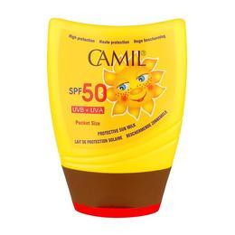 Lotiune de protectie solara de buzunar Camil SUN SPF50 - SuperFinish - 100 ml