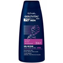 Gel de Dus 3 in 1 Fata, Corp si Par - Gerovital H3 Men Shower Gel Face Body and Hair - Wild, 400ml