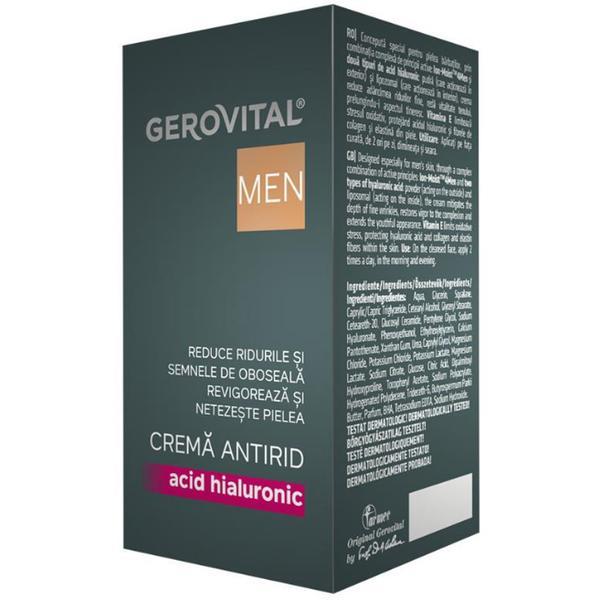 Crema Antirid - Gerovital H3 Men Anti-Wrinkle Cream, 30ml imagine produs