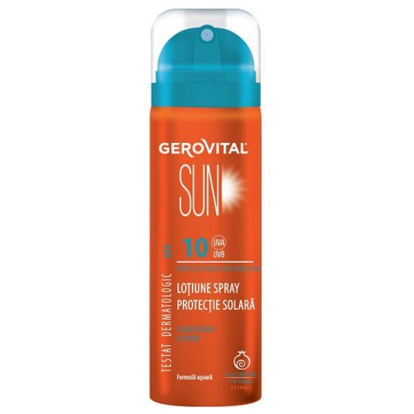 Lotiune Spray Protectie Solara SPF 10 - Gerovital Sun Sunscreen Lotion SPF 10, 150ml esteto.ro