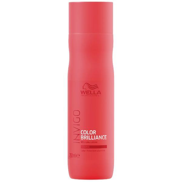 Sampon pentru Par Vopsit, Aspru - Wella Professionals Invigo Color Brilliance Color Protection Shampoo Coarse Hair, 250ml poza