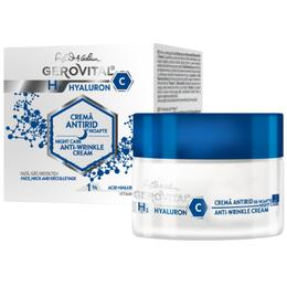 Crema Antirid de Noapte - Gerovital H3 Hyaluron C Night Care Anti-Wrinkle Cream, 50ml