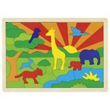 Puzzle In mijlocul junglei multicolor - Goki