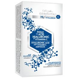 Fiole cu Acid Hialuronic - Gerovital H3 Hyaluron C Hyaluronic Acid and Vitamin C Ampoules, 10 fiole x 2ml