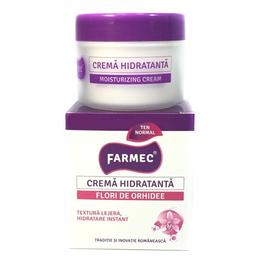 Crema Hidratanta cu Extract de Orhidee - Farmec Moisturizing Cream, 50ml
