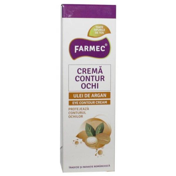 Crema Contur Ochi cu Ulei de Argan - Farmec Eye Contour Cream, 15ml poza