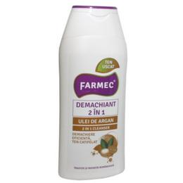 Demachiant 2 in 1 cu Ulei de Argan - Farmec 2 in 1 Cleanser, 200ml