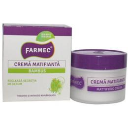 Crema Matifianta cu Extract de Bambus - Farmec Mattifying Cream, 50ml