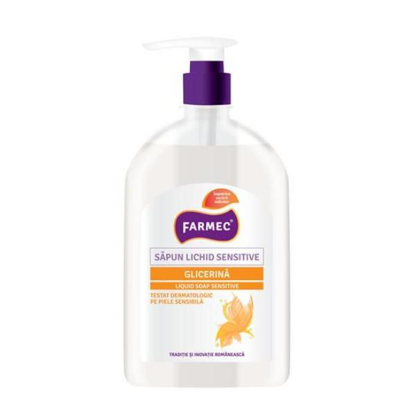 Sapun Lichid Sensitive cu Glicerina - Farmec Liquid Soap Sensitive, 500ml poza