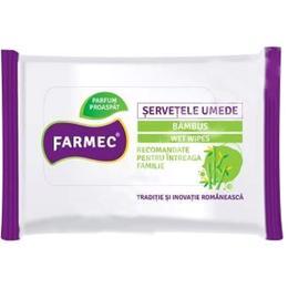 Servetele Umede cu Bambus - Farmec Wet Wipes, 15 buc