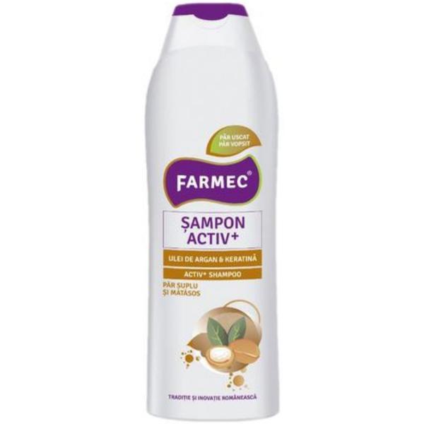 Sampon Activ+ cu Ulei de Argan si Keratina - Farmec Activ+ Shampoo, 400ml imagine produs