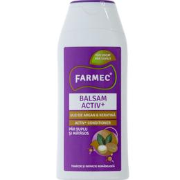 Balsam Activ+ cu Ulei de Argan si Keratina - Farmec Activ+ Conditioner, 200ml