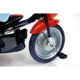 Tricicleta copii Dhs cu roti de metal Jolly Ride Albastru Rosu Albastru-Rosu