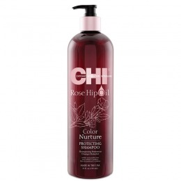 Sampon Protector Par Vopsit - CHI Farouk Rose Hip Oil Color Nurture Protecting Shampoo 739ml