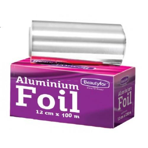 Rola Folie Aluminiu Argintie Suvite - Beautyfor Aluminium Foil for Hairdressing 14 microni, 0.12m x 100m imagine produs