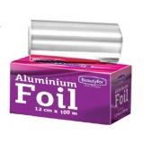 Rola Folie Aluminiu Argintie Suvite - Beautyfor Aluminium Foil for Hairdressing 14 microni, 0.12m x 100m
