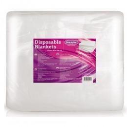 Patura de unica folosinta din material textil moale - Beautyfor Disposable Spunlace Blankets, 80cm x 200cm, 25 buc