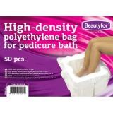 Pungi de unica folosinta din polietilena pentru pedichiura - Beautyfor Polyethylene bags for Pedicure Bath, 50 buc