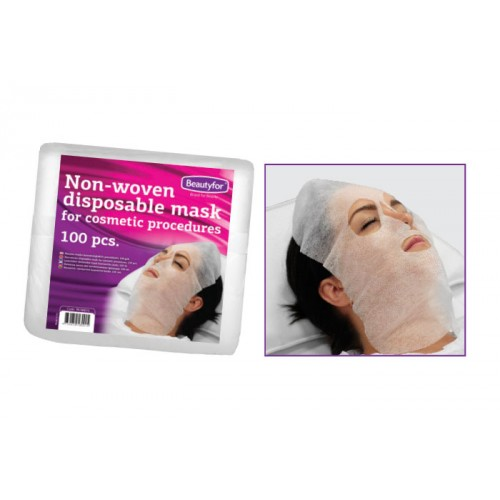 Masca de unica folosinta din material netesut - Beautyfor Non-woven Pre-Cut Disposable Facial Masks, 100 buc imagine produs
