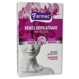 Benzi Depilatoare pentru Fata cu Extract de Orhidee Farmec, 20 buc
