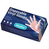 Manusi Albe Vinil Nepudrate Marimea S - Beautyfor White Vinyl Gloves, Powder Free, S, 100 buc