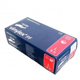 Manusi Albe Vinil Nepudrate Marimea L - Beautyfor White Vinyl Gloves, Powder Free, L, 100 buc