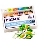 Conuri Dentare Mari .06 Gutta Percha Prima asortate 15-40, 60 buc