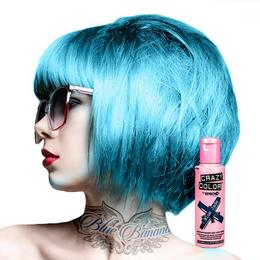 Crazy Color vopsea nuantatoare semipermanenta 100 ml - blue jade nr.67