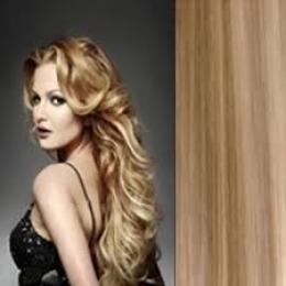 Extensii clip - on Veritable cu 12 piese, lungime 60 cm , culoare blond aluna ( # 12 )
