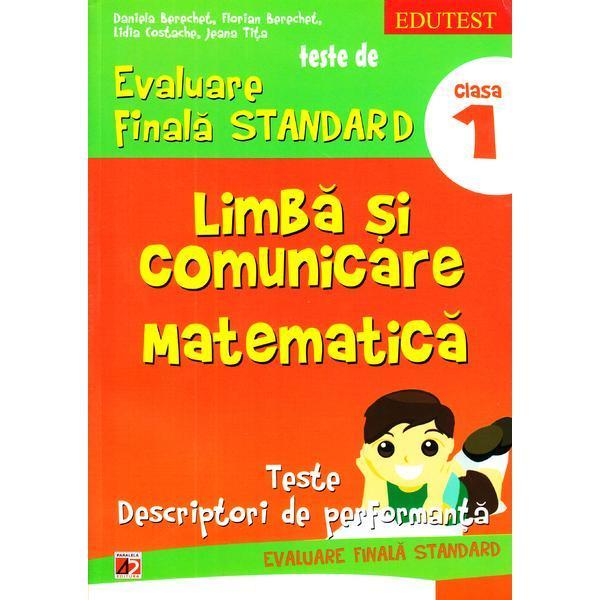 Limba Si Comunicare Matematica Clasa 1 Teste De