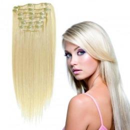 Extensii clip - on Veritable cu 12 piese, lungime 55 cm , culoare blond roscat ( # 16 )