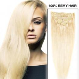 Extensii clip - on Veritable cu 10 piese, lungime 65 cm , culoare blond roscat ( # 16 )