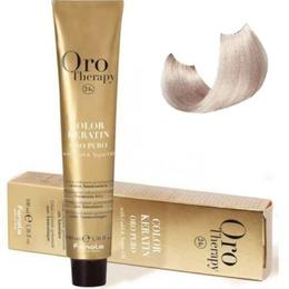 Vopsea fara amoniac - Fanola Oro Therapy Color Keratin - 10.13 blond platinat bej extra 100 ml