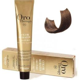 Vopsea fara amoniac - Fanola Oro Therapy Color Keratin - 7.31 blond nisipiu 100 ml