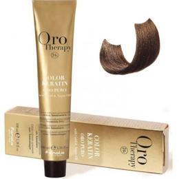 Vopsea fara amoniac - Fanola Oro Therapy Color Keratin - 7.31 blond nisipiu 100 ml