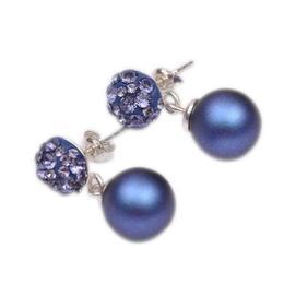 Cercei Queen Stone Ceralun cu Perle Albastre