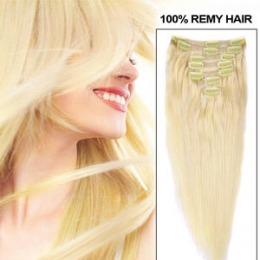 Extensii clip - on Veritable cu 12 piese, lungime 65 cm , culoare blond roscat ( # 16 )