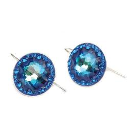 Cercei Queen Stone JellyFish Ceralun Bermuda Blue, Albastri, Argint 925