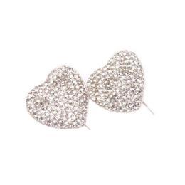Cercei Queen Stone Heart Ceralun XXL, Cristal, Argint 925, 28mm