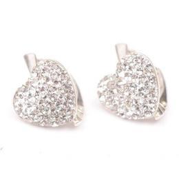 Cercei Queen Stone Heart Ceralun, Cristal, Argint 925, 14mm