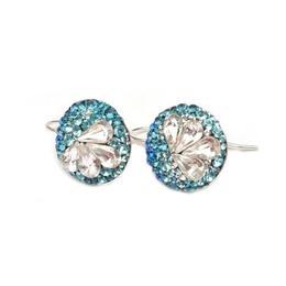 Cercei Queen Stone Wire Pear X4 Ceralun, Albastru/ Alb, Argint 925