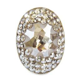 Inel Reglabil Queen Stone JellyFish Cerralun Oval Gold, AuriuArgint Placat Cu Aur