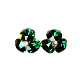 Cercei Queen Stone Xirius X3, Emerald, Argint 925, 13mm