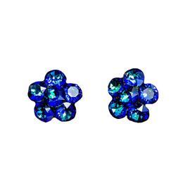 Cercei Queen Stone Xirius X6, Bermuda Blue, Argint 925, 22mm