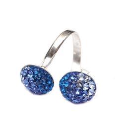 Inel Queen Stone Ceralun X2 Albastru
