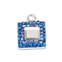 Pandantiv Queen Stone Base Ceralun, Albastru/Cristal, Argint 925, 10mm