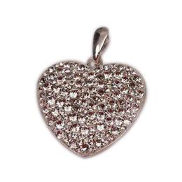 Pandantiv Queen Stone Heart Ceralun XXL, Cristal, Argint 925, 28mm