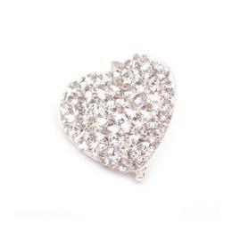 Pandantiv Queen Stone Heart Ceralun, Cristal, Argint 925, 14mm