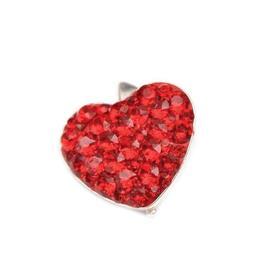 Pandantiv Queen Stone Heart Ceralun, Rosu, Argint 925, 14mm